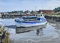 Brancaster Staithe Harbour watercolour