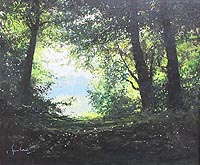 Ringstead Downs - Jeremy Barlow painting for sale