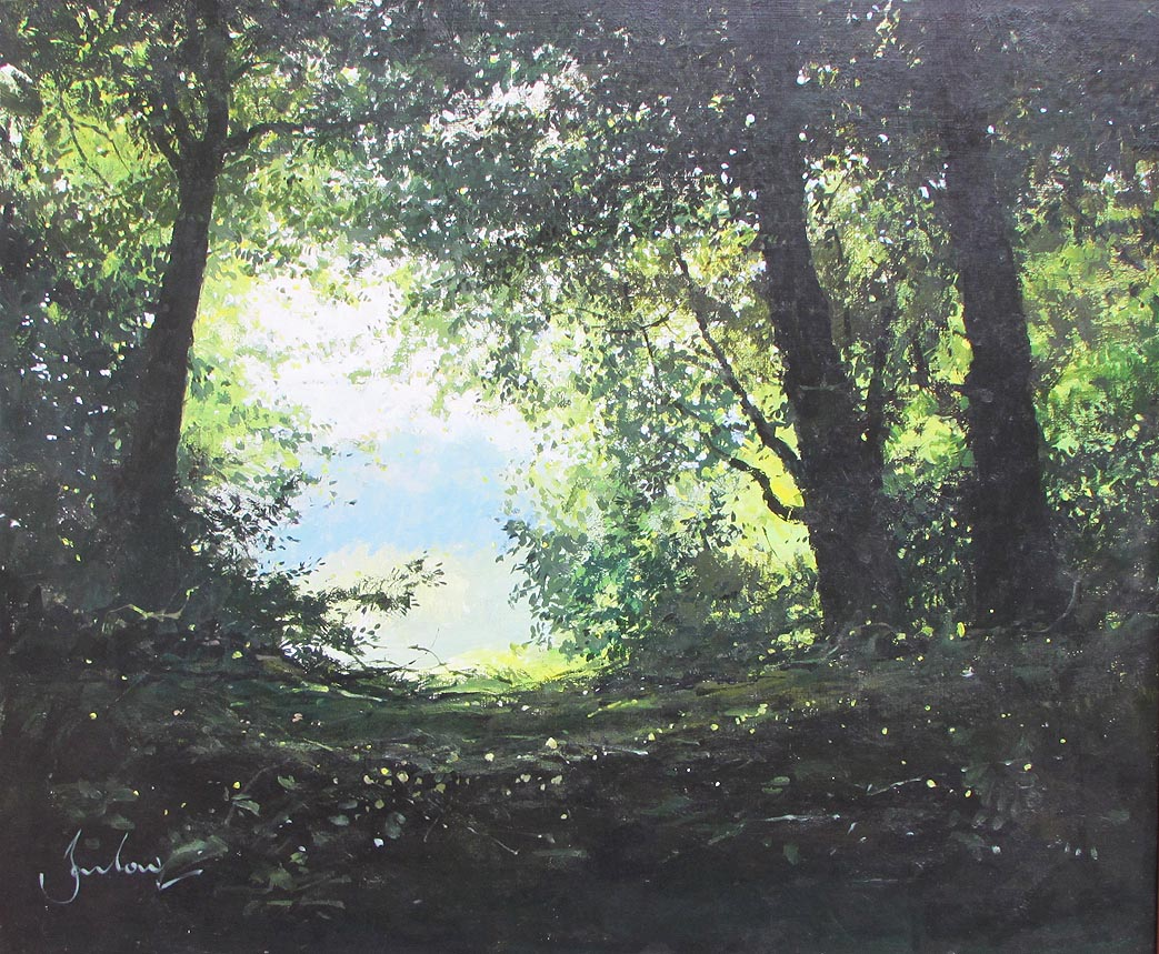 Jeremy Barlow painting for sale - Ringstead Downs