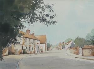 Thornham High Street   - Jeremy Barlow painting