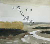 Hugh Brandon-Cox Ebb tide Brancaster Brent Flight