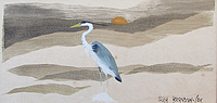 Heron Painting by Brandon Cox For Sale