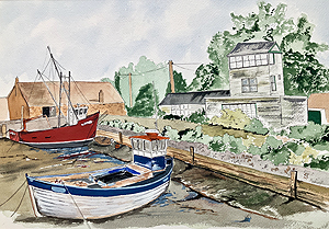 Nick Chinnery Painting - Bancaster Staithe