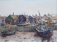Wells Boat Sheds	Jack Cox painting for sale