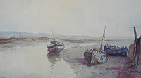 Boats at Rest - Cox painting for sale