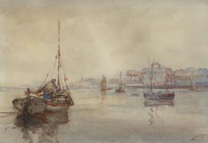 Wells next the Sea - Jack Cox painting