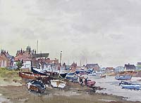 Hugh Ford painting of Wells next the Sea