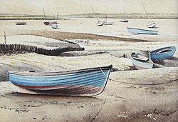 Mike Kilfoyle  Cley Low Tide  painting for sale