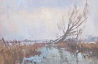 Andrew King  Norfolk marsh winter 1986