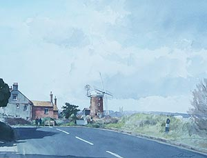 Stanley Orchart Painting - Cley Mill