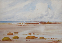 Frank Partridge Old Hunstanton watercolour for sale