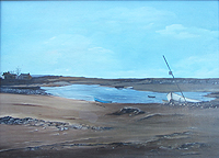 Maria Reese painting for sale - North Norfolk Coast Winter possibly Burnham