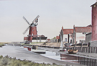 Godfrey Sayer Cley Mill painting for sale