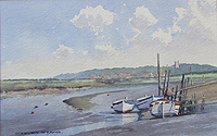 Blakeney from Morston Quay painting for sale