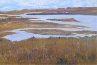 Marshes Norfolk painting