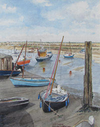 Malcom Whitley painting of Wells next the Sea for sale