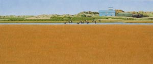 Wilczur Painting - Blakeney Harbour - Lifeboat Station