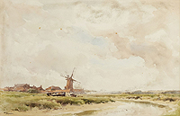 Stiger painting of Cley Mill for sale