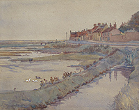 Cley from Cley Mill watercolour