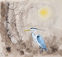 Hugh Brandon-Cox Heron in the sun