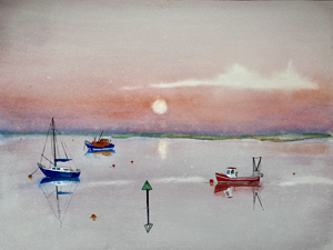 Nick Chinnery Painting - Sunrise Wells next the sea