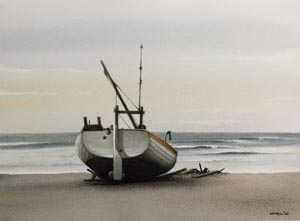 Cottrill Painting Fishing Boat Cley