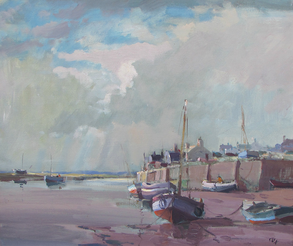 Jack Cox painting for sale - Blakeney low tide