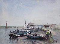 Moored Boats by Jack Cox