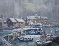 Winter Boats at Wells by Jack Cox