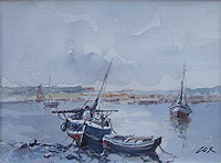 Jack Cox  Norfolk Creek with Boats