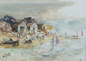 Jack Cox - Wells next the sea painting