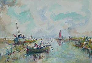 boats in norfolk creek   	Jack Cox