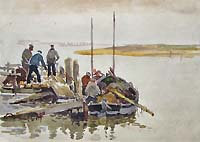 Hannaford Painting - Norfolk Fishermen