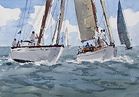 Yacht racing in Norfolk