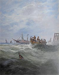 original marine oil painting