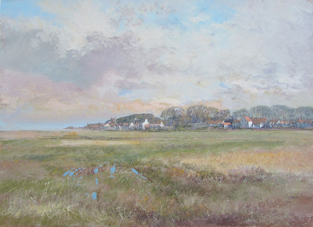 Clive Madgewick Painting - Cley next Sea from the Marsh