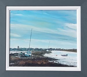 Christopher Ray Painting - Blakeney Harbour