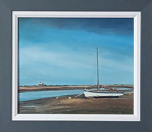 Christopher Ray Painting - Blakeney with watch house