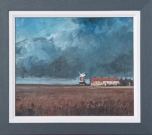 Christopher Ray Painting - Cley mill