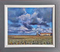 Christopher Ray painting of Cley Mill for sale