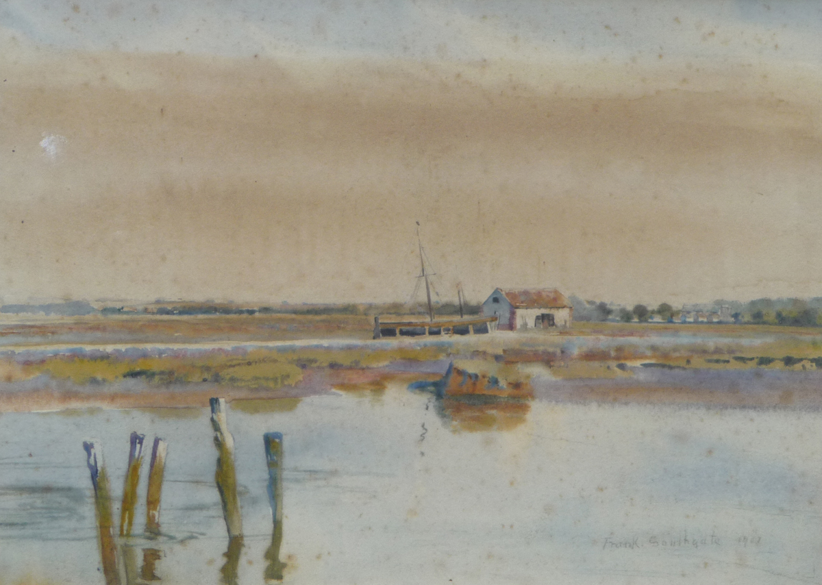 Thornham harbour and coal barn 1901	Frank southgate